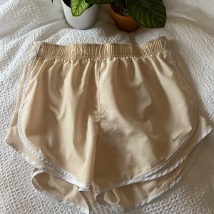 Nike Dri Fit Running Shorts Tan Size Large